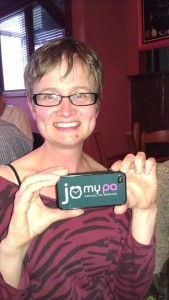 Jo with phone cover